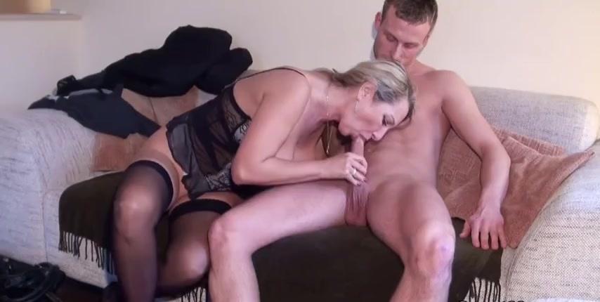 Blonde German MILF begs for anal&excl