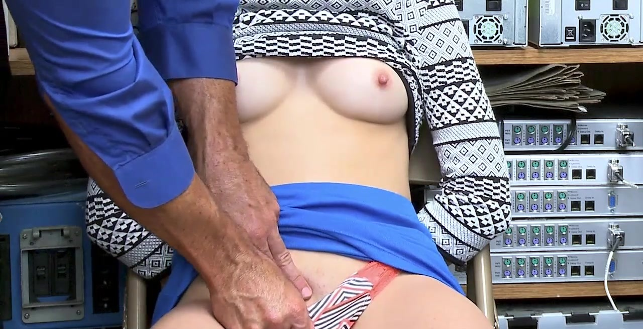 Teen Thieves Busted And Fucked By A Horny Security Guard